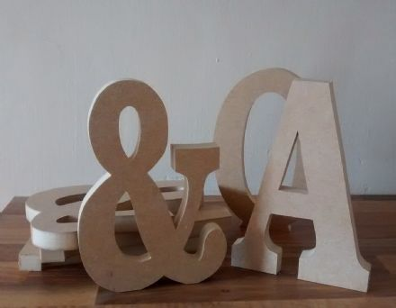 FREE STANDING WOODEN letters large 25 cm, wooden letter, price is per letter